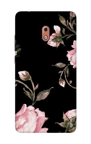Pink Roses On Black Nokia 2.1 Cases & Covers Online