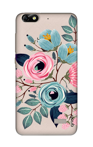 Pink And Blue Floral Honor 4C Cases & Covers Online