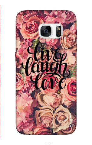 Floral Live, Laugh, Love Samsung S7 Edge Cases & Covers Online