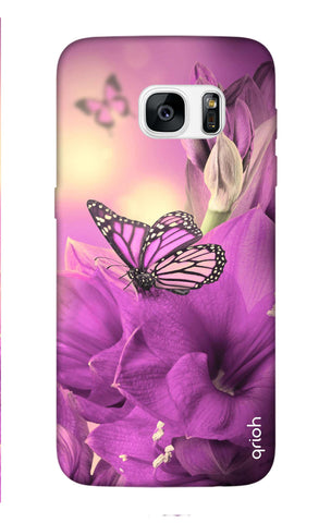 Purple Butterfly Samsung S7 Edge Cases & Covers Online