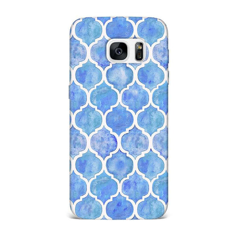 Aqua Vintage Case for Samsung S7 Edge
