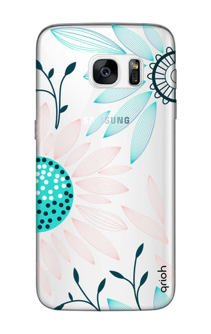 Pink And Blue Petals Samsung S7 Edge Cases & Covers Online