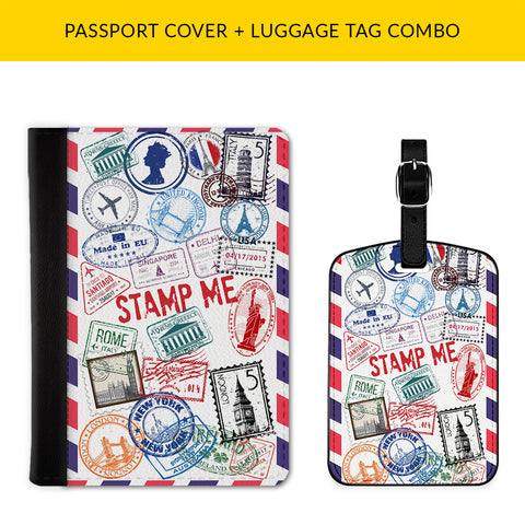 Stamp Me Passport & Luggage Tag Combo