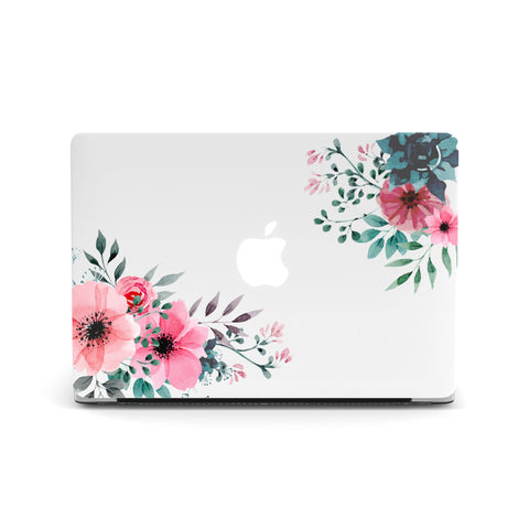 Corner Floral Macbook Covers