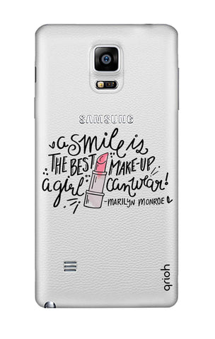 Make Up Smile Samsung Note 4 Cases & Covers Online