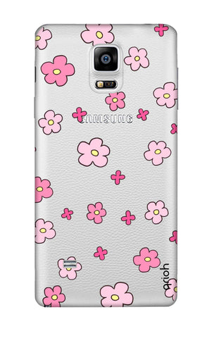 Pink Flowers All Over Samsung Note 4 Cases & Covers Online