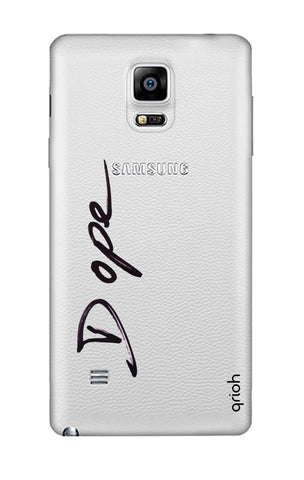 Dope Paint Black Samsung Note 4 Cases & Covers Online