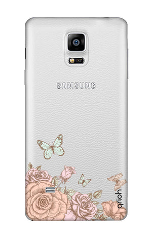 Flower And Butterfly Samsung Note 4 Cases & Covers Online