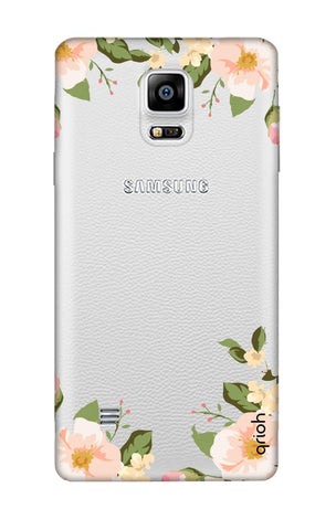 Flower In Corner Samsung Note 4 Cases & Covers Online