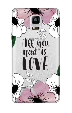 All You Need is Love Samsung Note 4 Cases & Covers Online