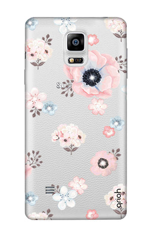 Beautiful White Floral Samsung Note 4 Cases & Covers Online