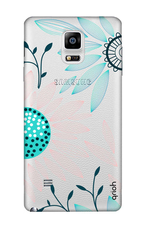 Pink And Blue Petals Samsung Note 4 Cases & Covers Online
