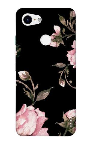 Pink Roses On Black Google Pixel 3 XL Cases & Covers Online