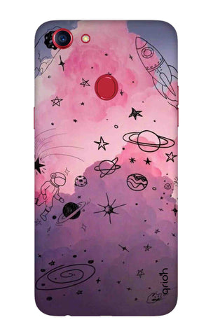 Space Doodles Art Oppo F7 Youth Cases & Covers Online
