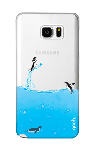 Penguins In Water Samsung Note 5 Cases & Covers Online