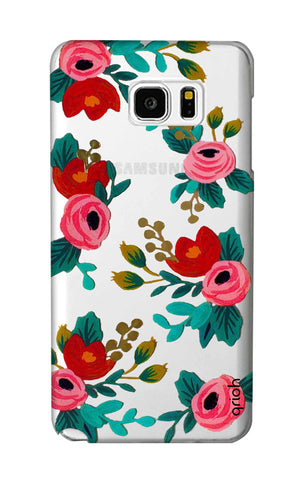 Red Floral Samsung Note 5 Cases & Covers Online