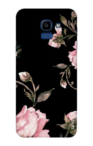 Pink Roses On Black Samsung Galaxy ON6 Cases & Covers Online