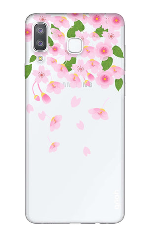 Pretty Pink Floral Samsung Galaxy A8 Star Cases & Covers Online