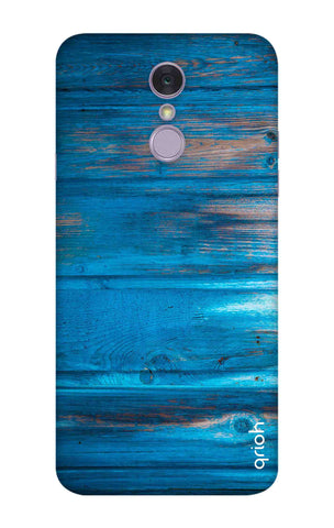Blue Wooden LG Q7 Cases & Covers Online