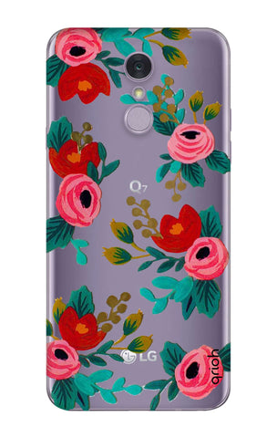 Red Floral LG Q7 Cases & Covers Online
