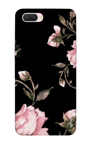 Pink Roses On Black Oppo A5 Cases & Covers Online