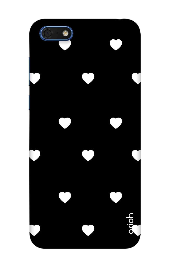 best loved d403b 9a6d5 White Heart Case for Huawei Honor 7s