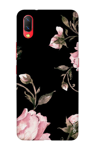 Pink Roses On Black Vivo NEX Cases & Covers Online