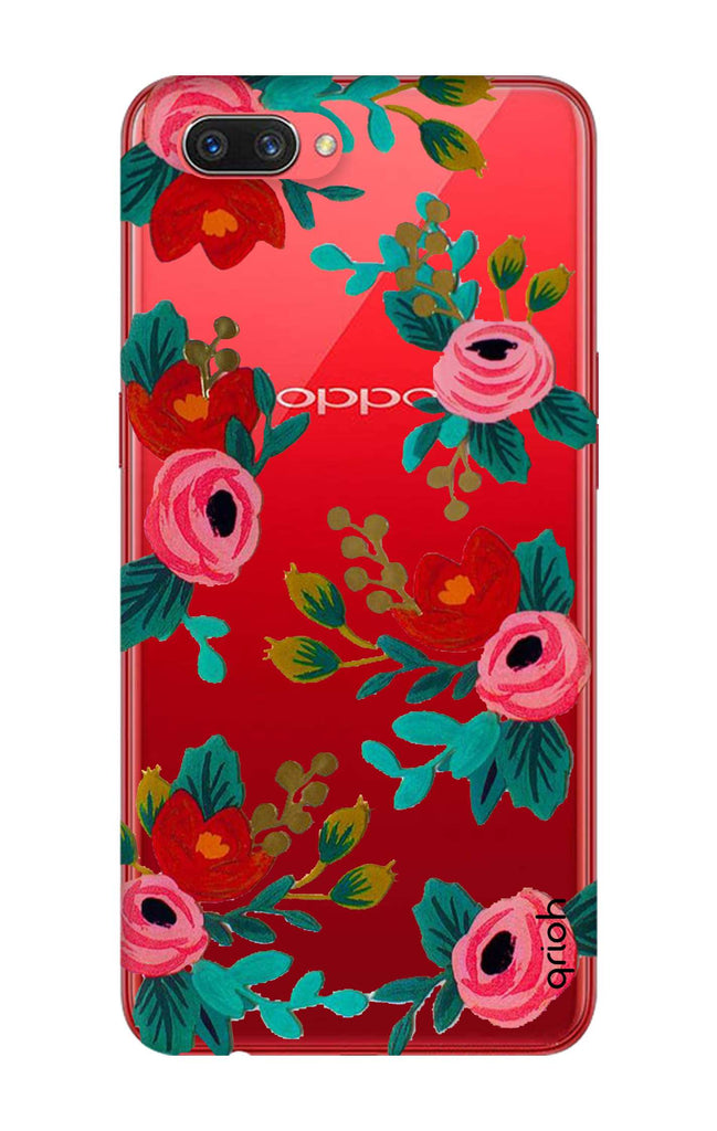 low priced 45554 d6159 Red Floral Case for Oppo A3s