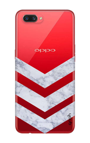 Marble Chevron Oppo A3s Cases & Covers Online