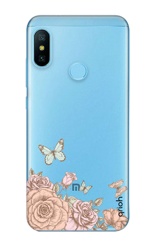 Flower And Butterfly Xiaomi Mi A2 Lite Cases & Covers Online
