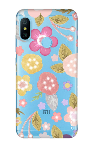 Multi Coloured Bling Floral Xiaomi Mi A2 Lite Cases & Covers Online