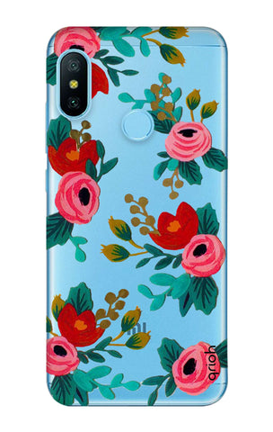 Red Floral Xiaomi Mi A2 Lite Cases & Covers Online