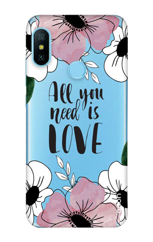 All You Need is Love Xiaomi Mi A2 Lite Cases & Covers Online