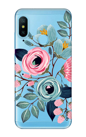 Pink And Blue Floral Xiaomi Mi A2 Lite Cases & Covers Online