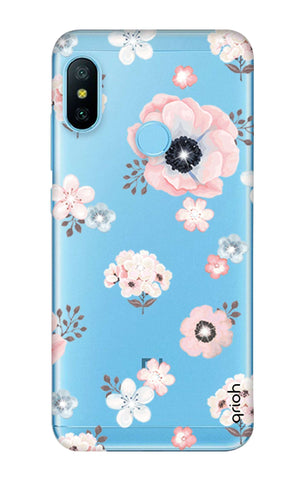 Beautiful White Floral Xiaomi Mi A2 Lite Cases & Covers Online