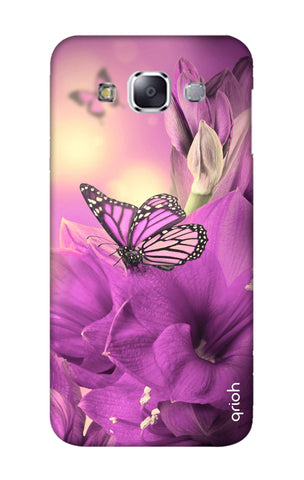 Purple Butterfly Samsung E7 Cases & Covers Online