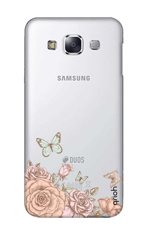 Flower And Butterfly Samsung E7 Cases & Covers Online