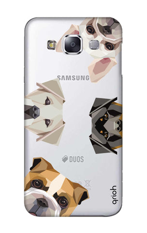 Geometric Dogs Samsung E7 Cases & Covers Online