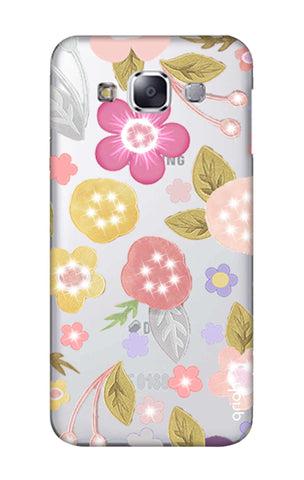 Multi Coloured Bling Floral Samsung E7 Cases & Covers Online