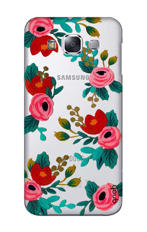 Red Floral Samsung E7 Cases & Covers Online