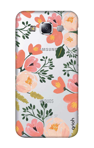 Painted Flora Samsung E7 Cases & Covers Online