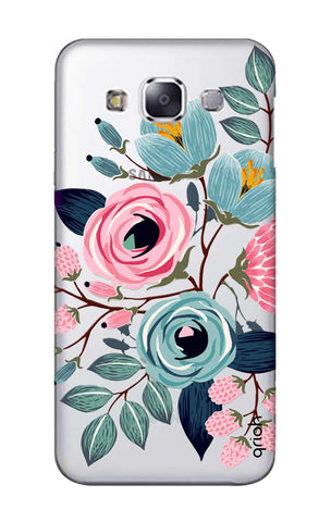 Pink And Blue Floral Samsung E7 Cases & Covers Online