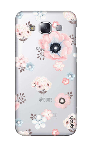 Beautiful White Floral Samsung E7 Cases & Covers Online