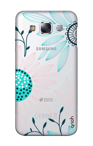 Pink And Blue Petals Samsung E7 Cases & Covers Online