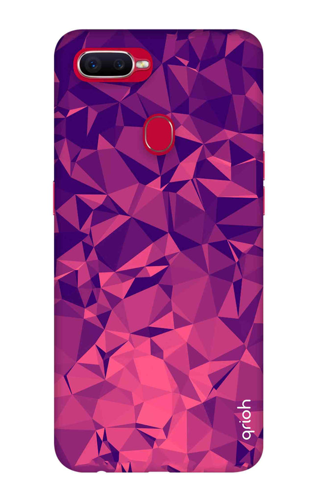 new styles 2f624 acd44 Purple Diamond Case for Oppo F9 Pro