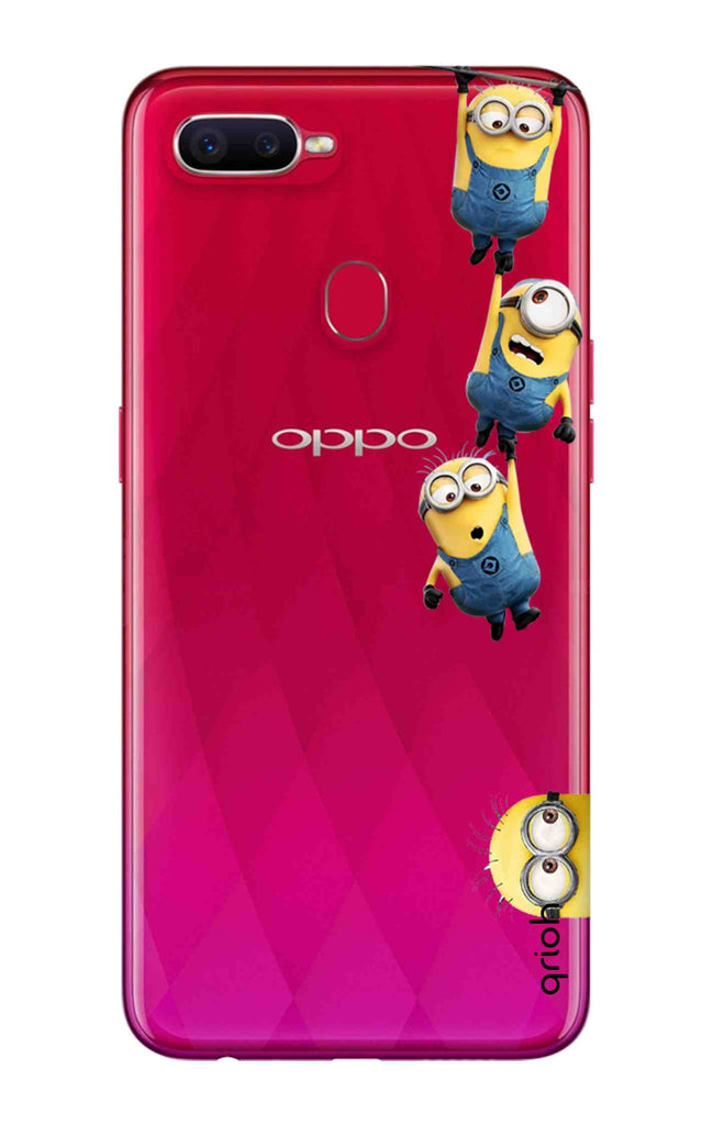 detailed look 77e58 55339 Falling Minions Case for Oppo F9 Pro