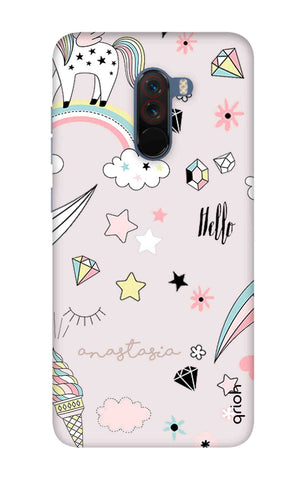 Unicorn Doodle Xiaomi Poco F1 Cases & Covers Online