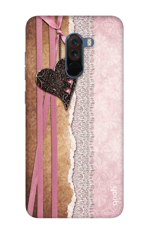Heart in Pink Lace Xiaomi Poco F1 Cases & Covers Online