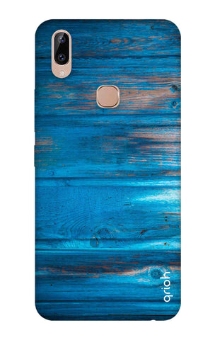 Blue Wooden Vivo Y83 Pro Cases & Covers Online