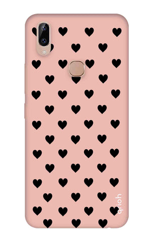 Black Hearts On Pink Vivo Y83 Pro Cases & Covers Online